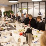The Prime Minister having lunch with entrepreneurs