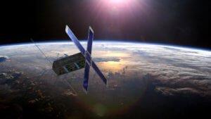 Prototypen av satelitten som Dynaspace har bygget.
